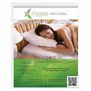 hygea natural waterproof dust mite lice and allergen With allergen proof pillow encasing