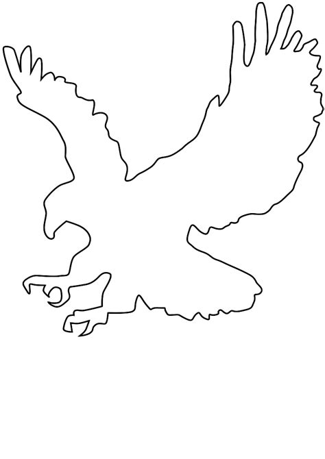 bald eagle template eagle outline