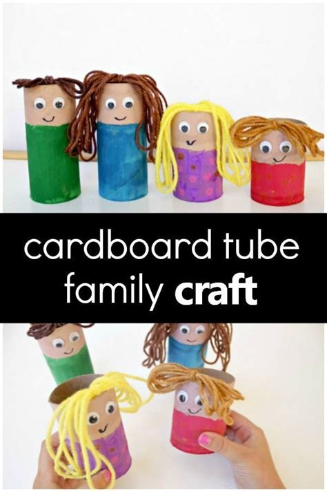 cardboard family craft all about me theme 965 | cc2525ee983ec24343dadb1705dd967d