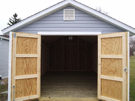 build a garage door how to buy replacement wood shed doors for your back yard