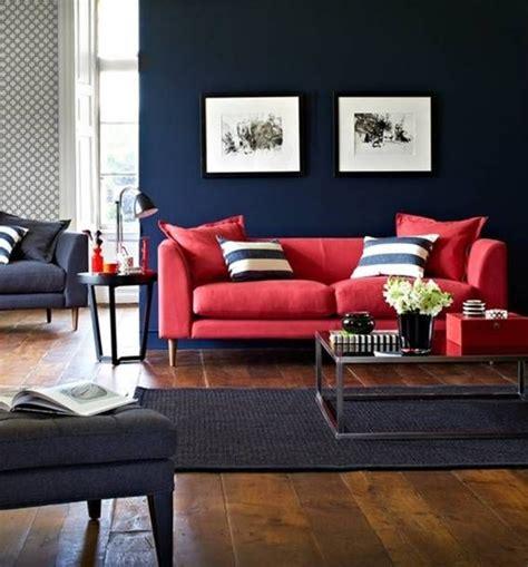 sofa vermelho como decorar sof 225 vermelho parede azul decorar 233 viver pinterest