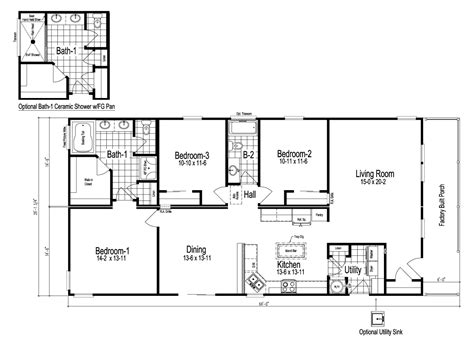 wilmington manufactured home floor plan  modular floor plans