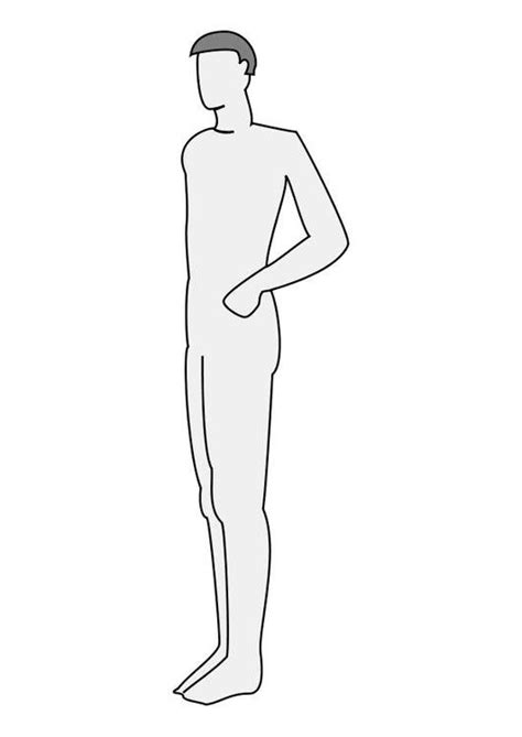 tinker cad pop figure template coloring page man profile img 10224