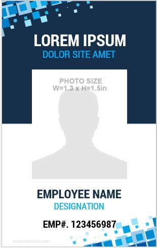 how to make id card template in word 10 amazing employee vertical size id cards for free