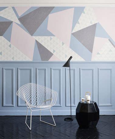 diy une deco murale geometrique  faire en papier peint