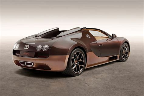 How fast can a veyron go? Exotic Bugatti light brown Cognac-Bugatti Veyron Grand ...
