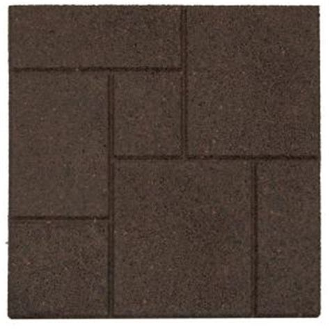 recycled rubber flooring home depot envirotile cobblestone earth 18 in x 18 in rubber paver