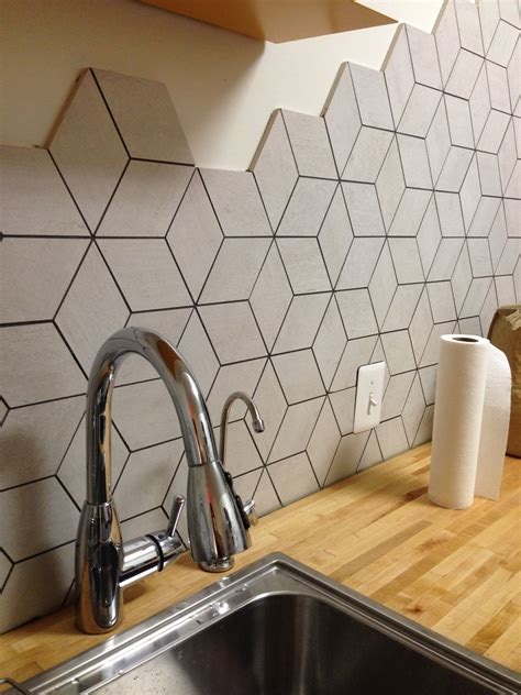 Where To Buy Kitchen Backsplash Tile by Backsplash Rhombus Shape Tile Black And White Bathrooms