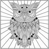 Owl Coloring Owls Adult Pages Adults Mandala Difficult Indie Printable Books Blank Getcolorings Night Popular sketch template