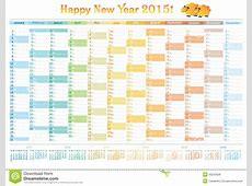 Kalender 2015 Engelse Organisator Stock Foto