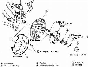 Service Manual  1999 Nissan Altima Rear Wheel Removal