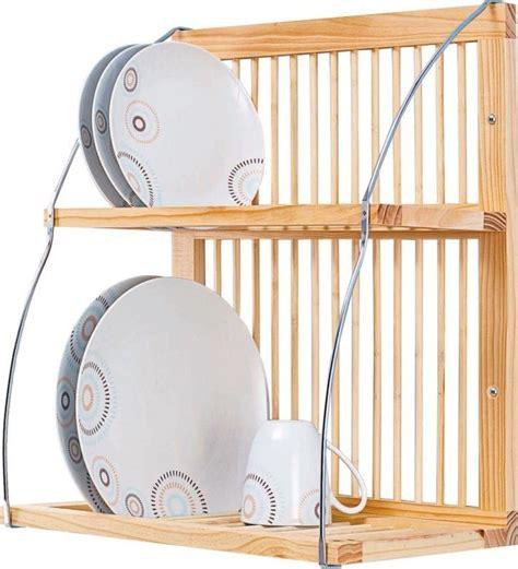 wooden wall mounted plate rack mountable metal kitchen dish holder hanging shelf wooden plate