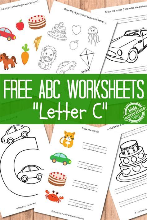 letter  worksheets  kids printables kids activities