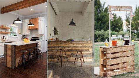 meuble bar cuisine americaine 15 idées déco à réaliser avec des palettes page 5