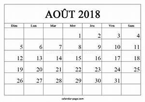 Calendrier Par Mois : calendrier a imprimer aout 2017 pdf ~ Dallasstarsshop.com Idées de Décoration