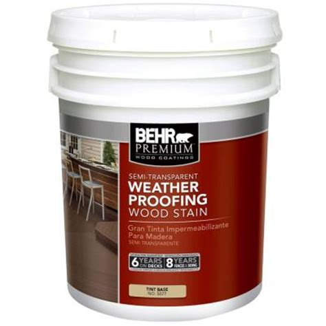 Behr Premium Deck Stain Home Depot by Behr Premium 5 Gal Semi Transparent Deck Fence And