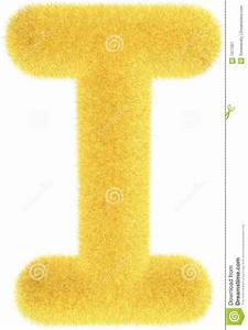 Furry Yellow Letter Royalty Free Stock Photography - Image ...