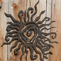 outside wall decor Rustic Sun Indoor/Outdoor Wall Decor 30 by fttdesign on Etsy