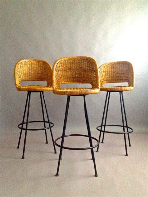 mid century iron stools gorgeous boho