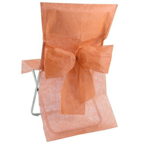 housse de chaise intissé housse de chaise intissé corail avec noeud les 10