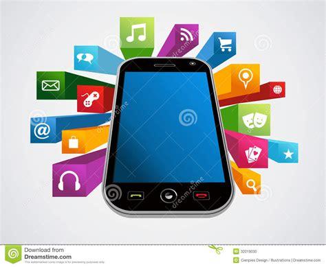 trendy smartphone frame set stock photo image