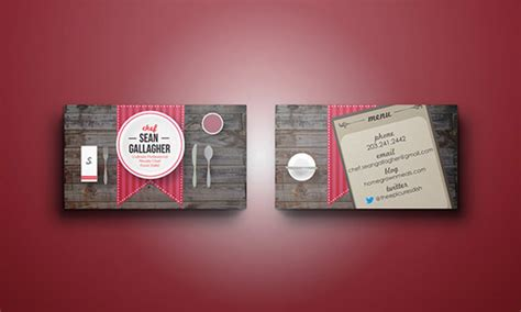 creative chefs business card templates psd word ai