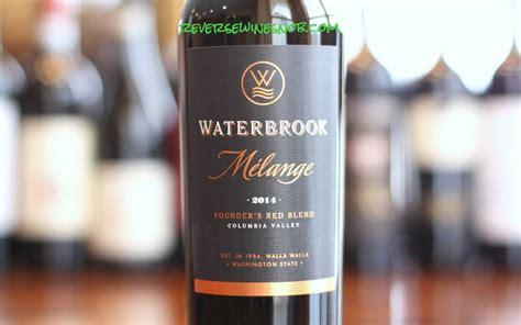 waterbrook melange blend wine washington