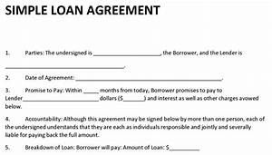 loan agreement template With borrow money contract template