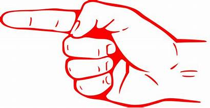 Finger Clipart Pointing Sign Transparent Hand Direction