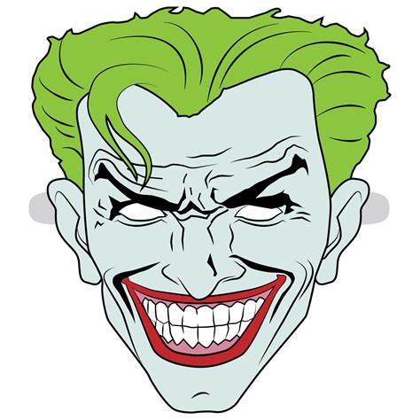 joker mask template  printable papercraft templates