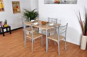 Chaises De Cuisine Modernes : table 4 chaises tuti hetre ~ Teatrodelosmanantiales.com Idées de Décoration