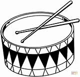 Coloring Drums Pages Printable Drawing sketch template