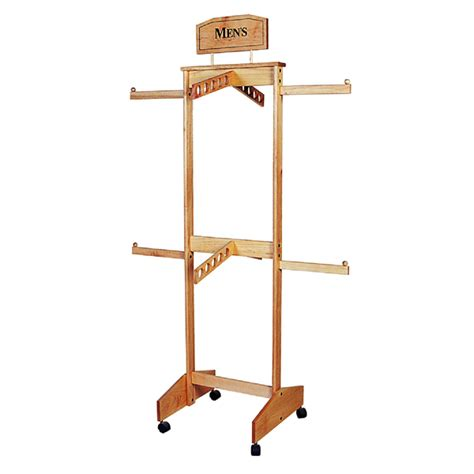 wooden clothes rack two tier four way wooden clothing rack trio display