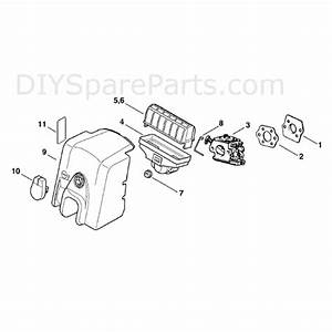 Stihl Ms 250 Chainsaw  Ms250  Parts Diagram  Air Filter
