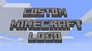 Create Custom Minecraft Logo Easy Tutorial Photoshop