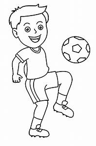 Football black and white boy playing football clipart ...