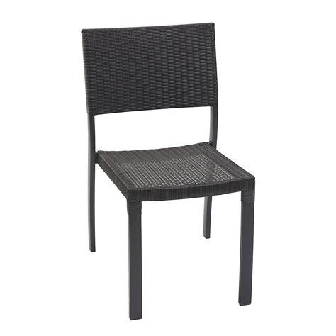 chaise gris anthracite chaise de jardin en résine tressée gris anthracite leroy