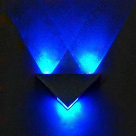 buy modern high power 3w led triangle decoration wall light sconce spot bazaargadgets
