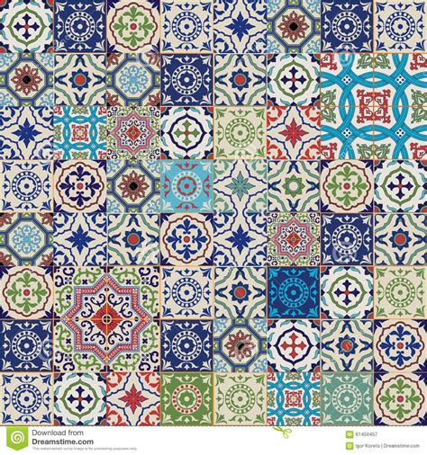 mega gorgeous seamless patchwork pattern  colorful