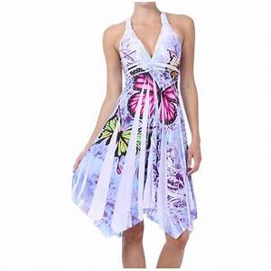 robe papillon quotsonjaquot blanc achat vente robe cdiscount With robe papillon femme