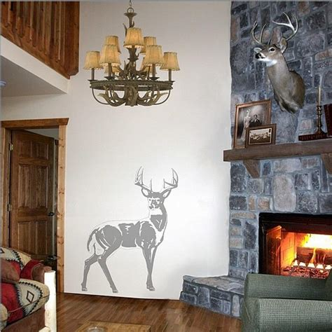 Sudden Shadows 42 In X 32 In Deer Wall Decal02098 The