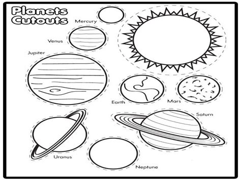 Solar Coloring Page System Pages Grig3org