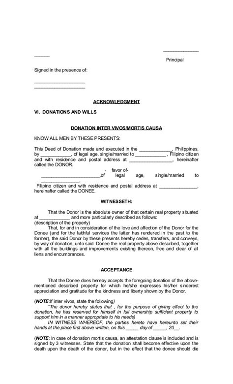 Deed Of Conveyance Template by Deed Of Conveyance Sle Philippines Templates Resume