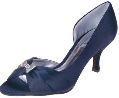 Lexus Maria Navy Satin Shoes