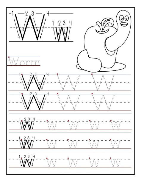 printable letter  tracing worksheets  preschool fun