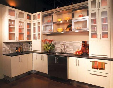 beautiful kitchen cabinet designs  glass