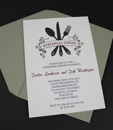 invitation template casual rehearsal dinner