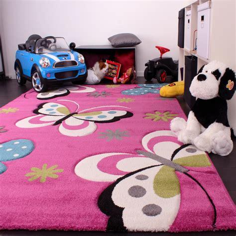 tappeto bambini tappeto bambini motivo farfalla rosa tapetto24