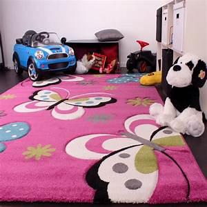 Kinder Teppich 160x230 : kinderteppich schmetterling pink ~ Watch28wear.com Haus und Dekorationen