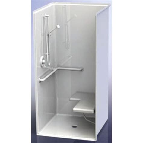 36 Shower Stall - aquatic 1363bfsc white 36 quot x36 quot x75 quot ada shower stall